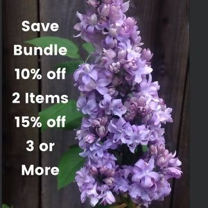 BUNDLE - get 10% off of 2 Items, 15% off 3 or more